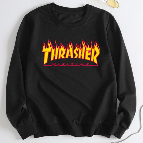 Thrasher Trendy Round Neck Hoodie Unisex Long Sleeves Hoodie