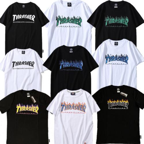 Thrasher Flame Popular T-Shirt Unisex Short Sleeves
