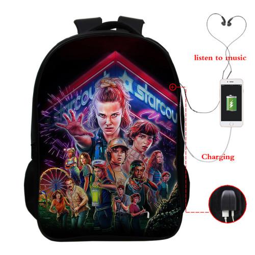Stranger Things Trendy Casual Cross Shoulder Bag School Book Bag Students Backpack