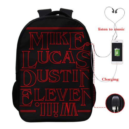 Stranger Things Popular Cross Shoulder Bag School Book Bag Students Backpack