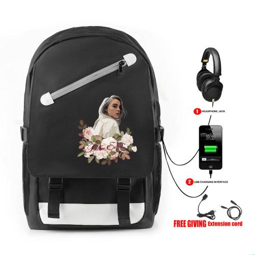 Billie Eilish Backpack  Travel Bag Students School Bag