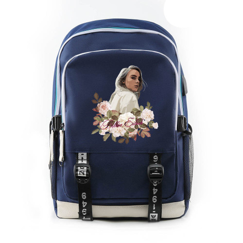 Billie Eilish Students Backpack School Book Bag Big Capacity Rucksack Travel Bag