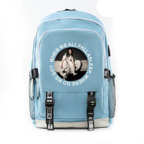 Billie Eilish Fashion Students Backpack School Book Bag Big Capacity Rucksack Travel Bag