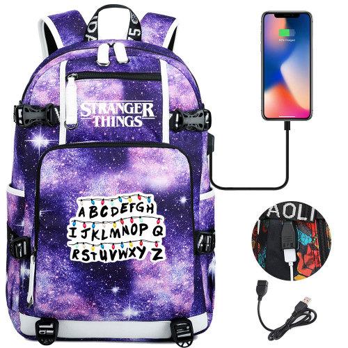 Stranger Things Fashion Casual School Book Bag Big Capacity Rucksack Travel Bag