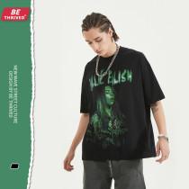 Billie Eilish Summer Short Sleeves Hip-Hop Street chic T-shirt