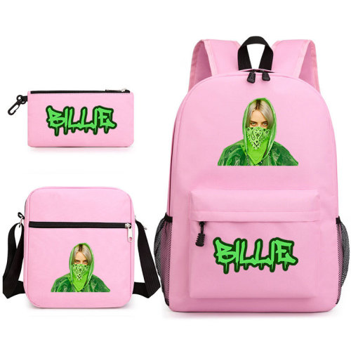 Billie Eilish Backpack 3 Pieces Set School Backpack Lunch Bag and Pencil Bag