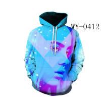 Billie Eilish Trendy 3-D Color Print Hooded Unisex Hoodie