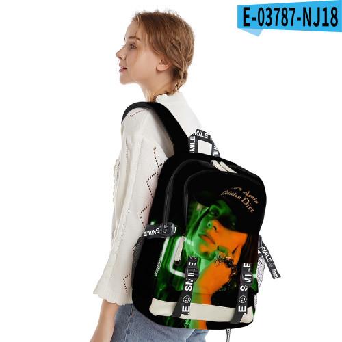 Billie Eilish Trendy Cross Shoulder Bag Youth Adults Day Bag Travel Bag
