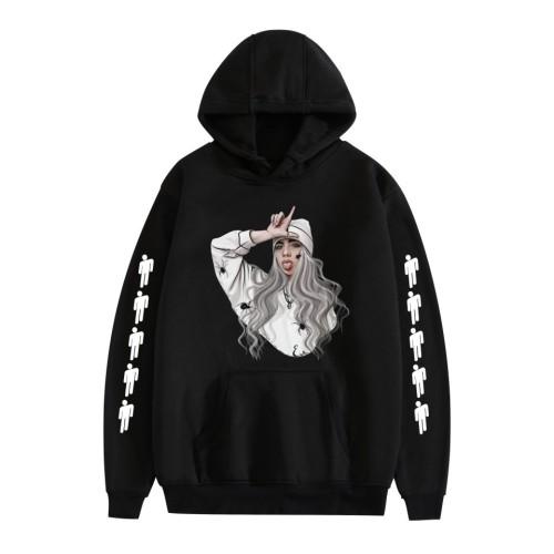Billie Eilish Hoodie Unisex Loose Hoodie Pocket Fashion Hoodie