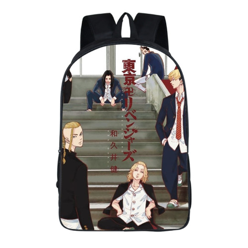 Anime Tokyo Revengers Students School Cool Backpack Bookbag