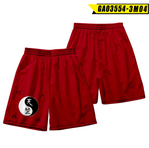 Anime Tokyo Revengers Men Summer Shorts Street Style Shorts Beach Shorts