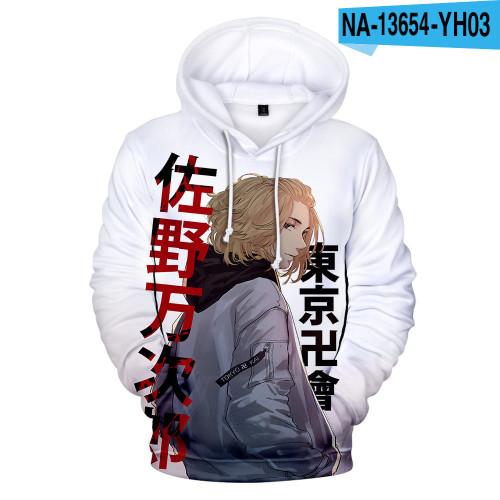 Anime Tokyo Revengers Hoodie Unisex Long Sleeve Hooded Sweatshirt