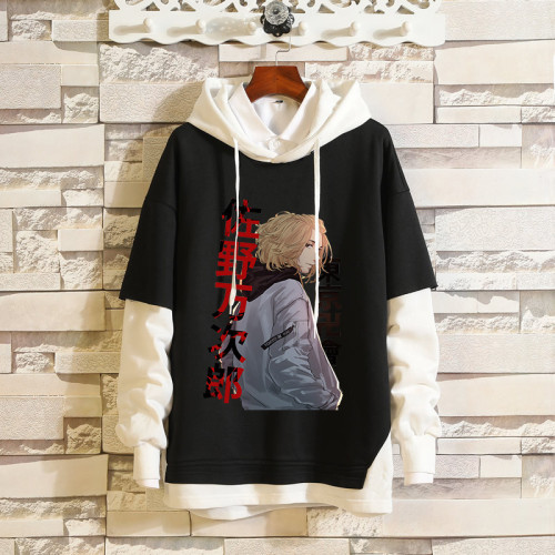 Anime Tokyo Revengers Fake Two Pieces Hoodie Street Style Youth Unisex Cool Tops