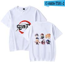 Demon Slayer Anime Merch Summer Unisex Cotton Tee Short Sleeve Round Neck Youth Street Style T-shirt