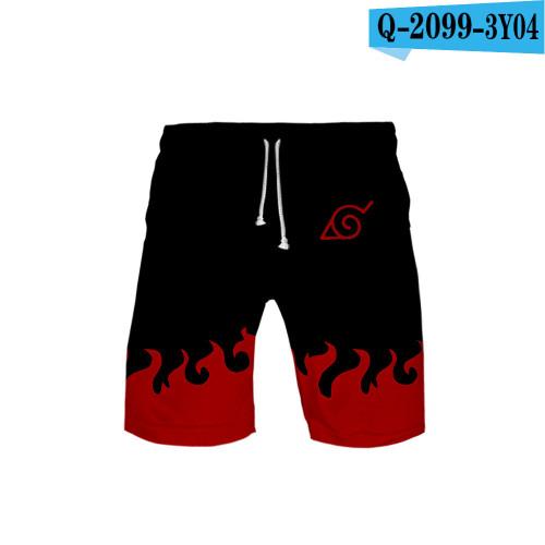 Anime Naruto Men Shorts Summer Beach Shorts Comfort Loose Home Wear