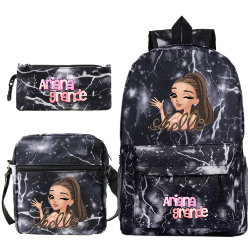 Ariana Grande Popular 3 Pieces Set School Backpack Lunch Bag and Pencil Bag