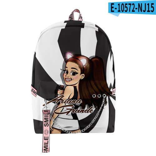 Ariana Grande 3-D Print Backpack Students Backpack Youth Adults Day Bag