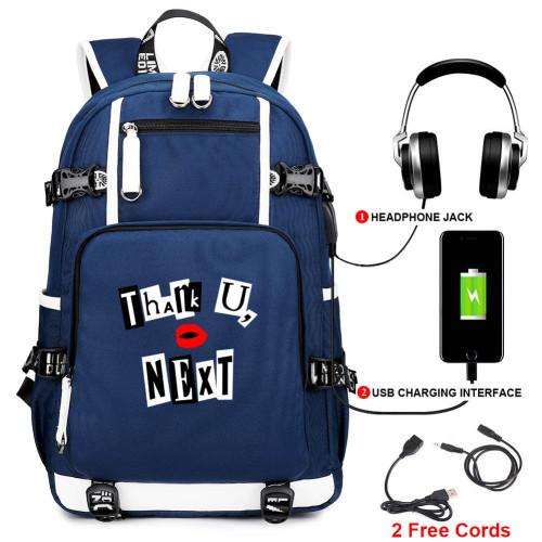 Ariana Grande Students School Bag Big Capacity Rucksack Travel Bag With USB Charging Port