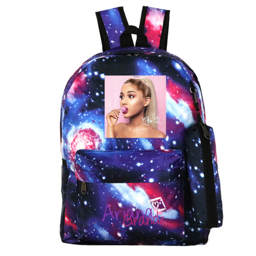Ariana Grande Fashion Print Backpack 2 Pieces Set School Backpack and Pencil Bag