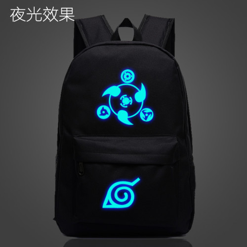 Anime Naruto Backpack Glow In The Dark Cool Students Backpack Unisex Youth Backpacks