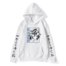 Demon Slayer Youth Unisex Hoodie Tomioka Giyuu Print Hooded Sweatshirt Casual Loose Pullover Long Sleeve Outfit