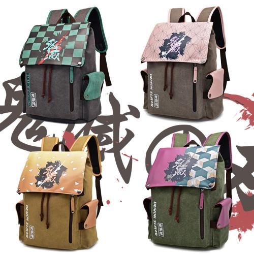 Demon Slayer Students School Big Capacity Backpack Bookbag Youth Unisex Travel Backpack