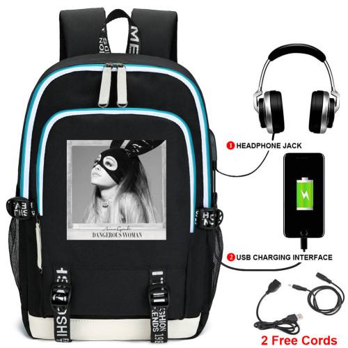 Ariana Grande Fashion Backpack Computer Backpack Students School Bag