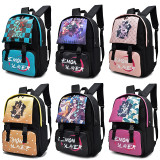 Demon Slayer Kids Youth Backpack Big Capacity Bookbag Trendy School Backpack Waterpfoof