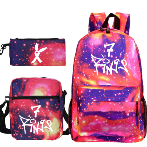 Ariana Grande Youth Kids School Backpack Book Bag With Lunch Box Bag and Pencil Bag 3 Piece Set