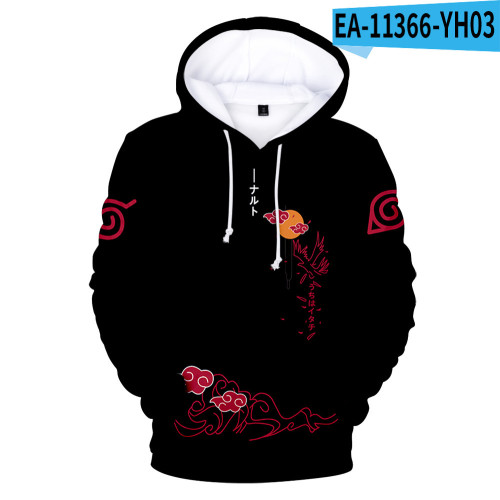Anime Naruto Adults Youth Fall Outfit Popular Unisex Hoodie Casual Long Sleeve Hooded Sweatshirt