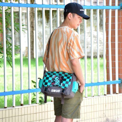 Demon Slayer Youth Cool Cross Shoulder Bag Daily Bag Girls Boys Trendy Street Style Book Bag