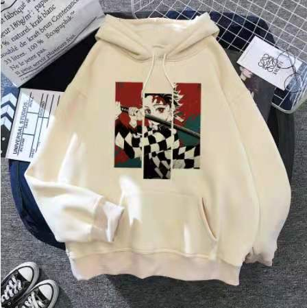 Demon Slayer Youth Unisex Oversize Hoodie Trendy Street Style Casual Tops Comfort Long Sleeve Pullover Sweatshirt