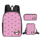 Demon Slayer Kids Youth Backpack Set 3pcs Backpack Lunch Bag And Pencil Bag Set For Girls Boys