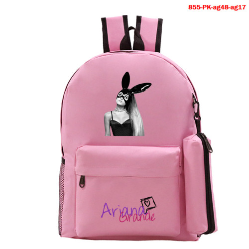 Ariana Grande Fashion Backpack 2 Pieces Set School Backpack and Pencil Bag