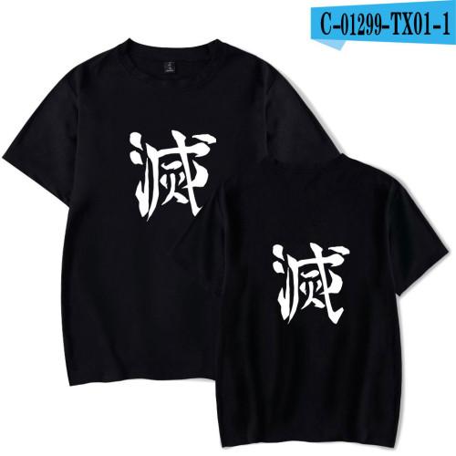 Demon Slayer Anime Merch Demon Slayer Youth Unisex T-shirt Short Sleeve Cotton Tee