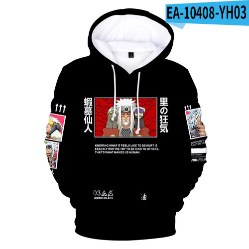 Anime Naruto Adults Youth Hoodie Casual Trendy Pullover Sweatshirt Hooded Tops
