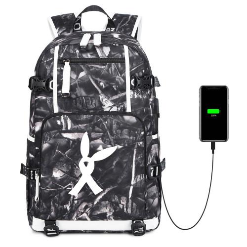 Ariana Grande Popular Students Backpack Big Capacity Rucksack Travel Bag With USB Charging Port