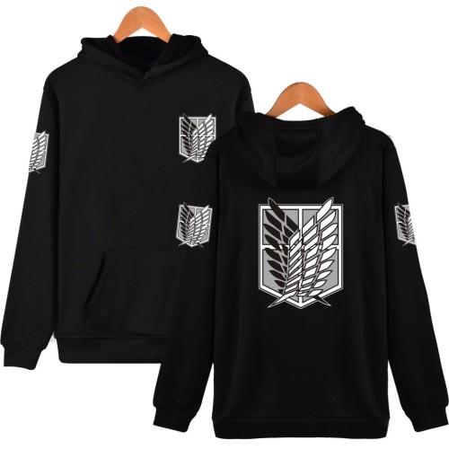 Anime Attack On Titan Hoodie Wings Of Freedom Print Unisex Youth Adults Hooded Sweatshirt Long Sleeve Tops