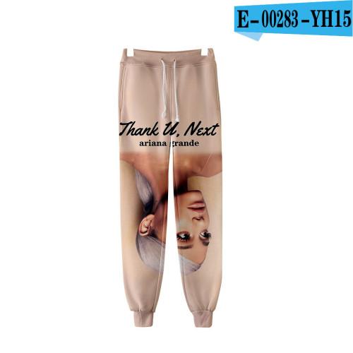 Ariana Grande Trendy 3-D Print Casual Unisex Jogger Pants