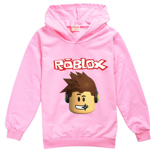 Roblox Children Gilrs Boys Hoodie Long Sleeve Casual Cotton Pullover Tops