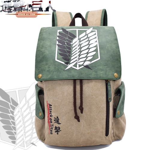 Anime Attack On Titan Backpack Youth Adults Fans Backpack School Students Backpack