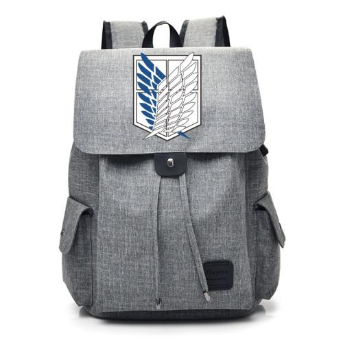Anime Attack On Titan Youth School Backpack Bookbag Boys Girls Students Backpack