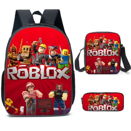 Roblox Kids Youth Backpack Set 3pcs Unisex Girls Boys Backpack With Lunch Bag and Pencil Bag Set