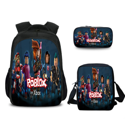 Roblox Kids Backpack Set 3pcs Students Backpack With Lunch Bag and Pencil Bag Set for Girls Boys