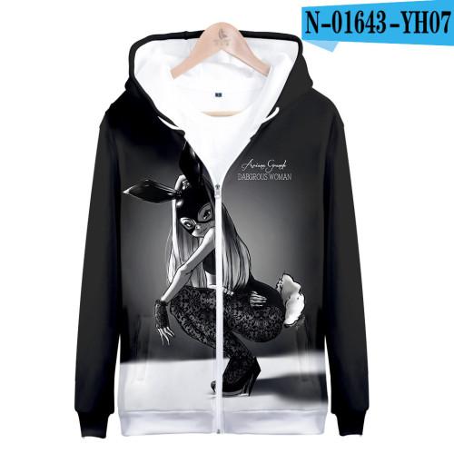 Ariana Grande Adults Youth Fashion Unisex Zipper Coat