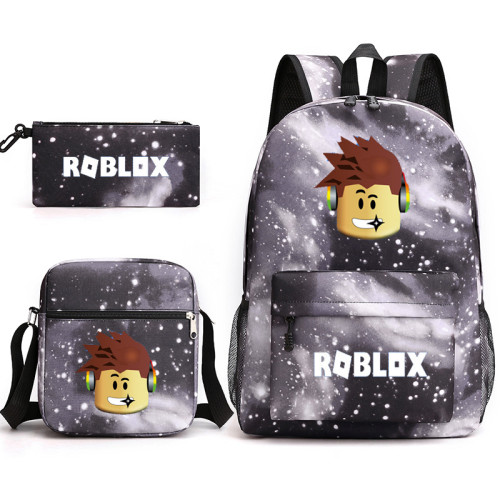 Roblox Galaxy Color Backpack Set 3pcs Backpack With Lunch Bag and Pencil Bag Set For Stundents