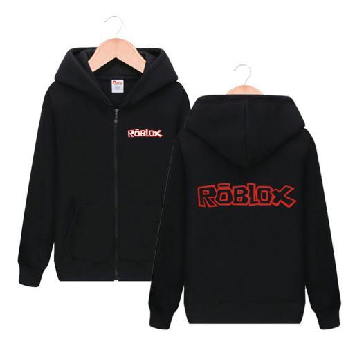 Roblox Youth Unisex Zipper Jacket Long Sleeve Hooded Zip Up Sweatshirt For Fall Winter