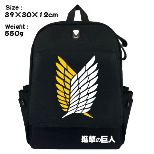 Anime Attack On Titan Canvas Backpack Casual Backpack Students School Bookbag