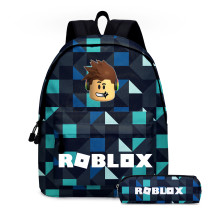 Roblox Girls Boys School Backpack Unisex Popular Roblox Bookbag 2 Piece Set Backpack With Pencil Bag