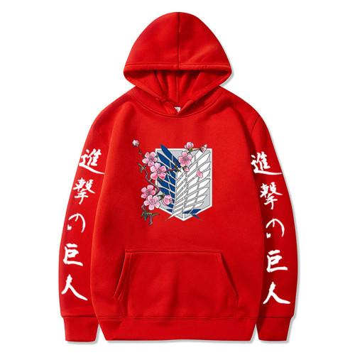 Anime Attack On Titan Youth Casual Hoodie Long Sleeve Hooded Sweatshirt Tops